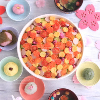 ひな祭りの水玉寿司の写真・画像素材[1119061]
