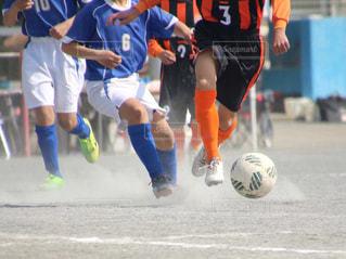 サッカーの試合の写真・画像素材[1347343]