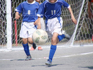 サッカーの試合の写真・画像素材[1347347]