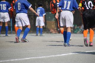サッカーの試合の写真・画像素材[1347350]