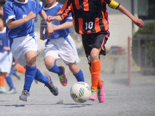 サッカーの試合の写真・画像素材[1347351]