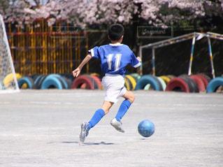 サッカーの試合の写真・画像素材[1347368]