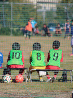 サッカーの試合の写真・画像素材[1347391]