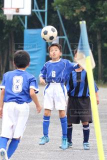サッカーの試合の写真・画像素材[1347408]