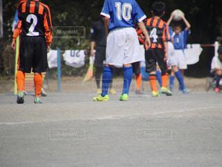 サッカーの試合の写真・画像素材[1347413]