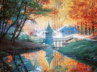 秋の公園の写真・画像素材[1638375]