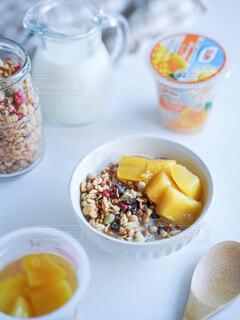 食べ物,朝食,マンゴー,果物,グラノーラ,軽食,ドール