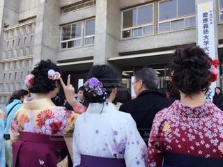 卒業式 in Keio Universityの写真・画像素材[1130752]