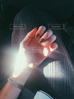 秋,ネイル,手,光,フィルム,フィルム写真,フィルムフォト