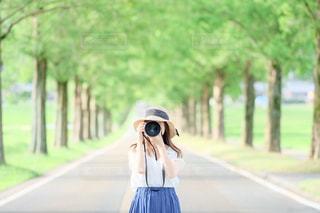 カメラ女子の写真・画像素材[1867826]