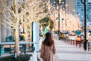 女性,風景,屋外,大阪,イルミネーション,人,梅田,グランフロント大阪,シャンパンゴールド