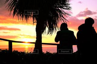 風景,夕焼け,観光,ツーショット