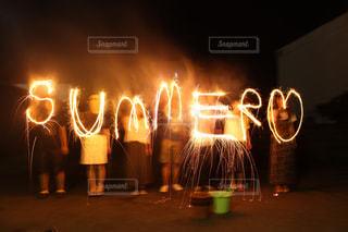 夏,花火,青春,summer,長時間露光,手持ち花火