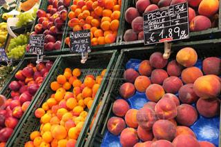 フルーツ,果物,イタリア,新鮮,スーパー,量り売り,ピーチ,桃系