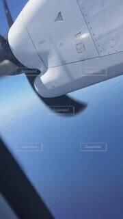 空,雲,青空,空の上,飛行機,プロペラ,プロペラ機