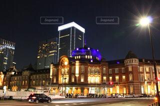 夜景,東京,東京駅