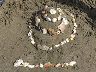 海,夏,ケーキ,ビーチ,浜辺,貝殻ケーキ