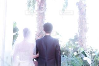 結婚式の後姿 - No.817048