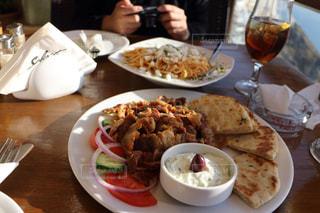 観光地,サントリーニ島,ギリシャ,肉料理,select,ギリシャ料理,ギュロス