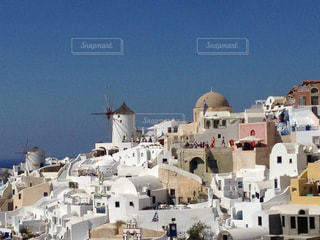 絶景,白,風車,世界遺産,景色,街,観光,旅行,サントリーニ島,ギリシャ,リゾート,海外旅行