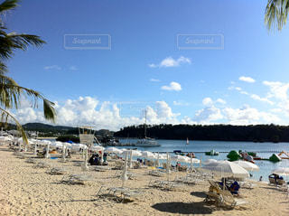 ビーチ,沖縄,旅行,パラソル,万座ビーチ,万座ビーチホテル