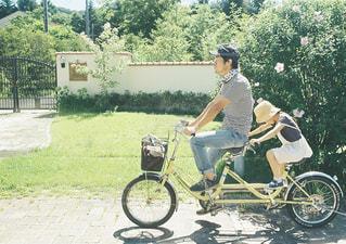 家族,自転車,親子,旅行,父親,パパ,軽井沢,娘,お父さん,二人乗り自転車