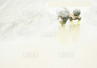 家族,雨,茶色,水たまり,女の子,長靴,雨上がり,梅雨,男の子,ベージュ,兄弟,ミルクティー色
