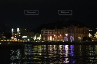 夜景,綺麗,福岡,グラデーション,門司港レトロ,門司港,やけい,水にうつる