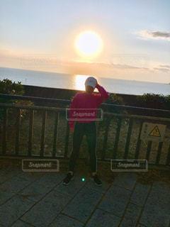 夕日と共に 🏃♀️の写真・画像素材[985670]