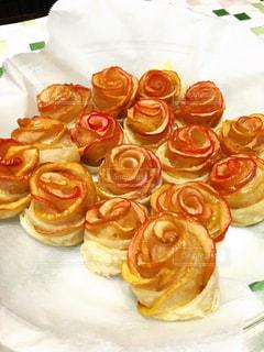 バラ,お花,アップルパイ,リンゴ,一口サイズ