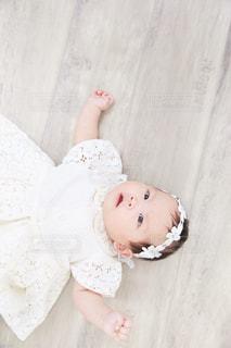 白,女の子,レース,赤ちゃん,ベビー,生後3ヶ月,夏服,半袖,ヘアバンド