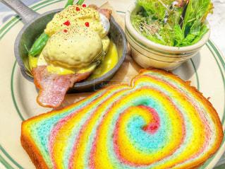 食べ物の皿のクローズアップの写真・画像素材[2359942]