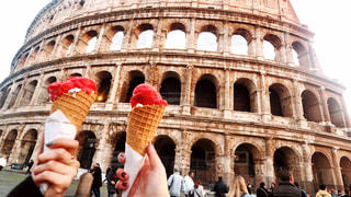 カフェ,風景,海外,ローマ,旅,イタリア,コロッセオ,ジェラート,Travel,コロッセオメトロカフェ