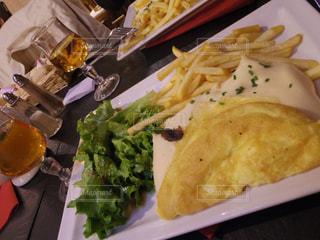 ディナー,ふわふわ,フランス,レストラン,オムレツ,モンサンミッシェル,ラメールプラール