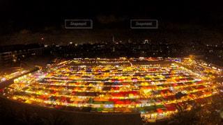夜の街の景色の写真・画像素材[1197586]