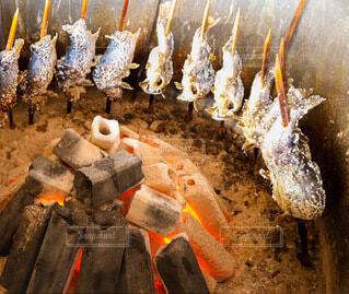 炭火焼きのニジマスの写真・画像素材[4199871]