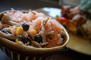 食べ物,秋,屋内,キノコ,料理,炊き込みご飯,食欲の秋