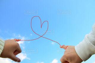 空,LOVE,青空,ハート,愛,好き,恋愛,恋,約束,指切り