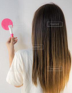 女性,ロングヘア,髪,後ろ姿,人,トリートメント,カラーモーション,ウエラ,wella,カラーケア
