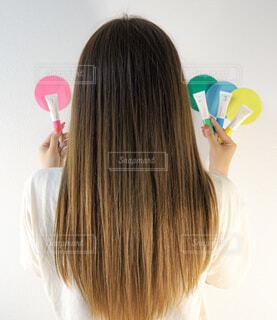 女性,ロングヘア,髪,後ろ姿,少女,人,トリートメント,カラーモーション,ウエラ,wella,カラーケア