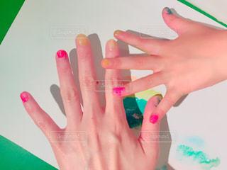 ネイル,親子,絵の具,手,お絵描き,カラー,カワイイ,ママと子供