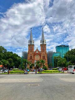 観光地,建築物,景色,街,旅行,教会,ベトナム,東南アジア,ホーチミン,サイゴン大教会,フォトジェニック,聖母マリア教会
