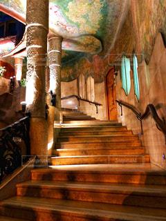 カサ・ミラの階段の写真・画像素材[2149344]