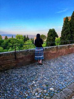 朝のアルハンブラ宮殿からの写真・画像素材[2233185]
