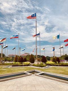 マレーシア国旗と州旗の写真・画像素材[2471977]