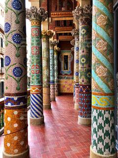 カタルーニャ音楽堂のテラスの写真・画像素材[2477346]