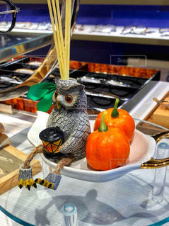 秋とかぼちゃとフクロウとの写真・画像素材[2500729]