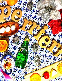 食べ物,飲み物,ディナー,カラフル,オシャレ,クリスマス,フランス,ボトル,ご飯,テーブルフォト,おうちカフェ,グリーン,ドリンク,パーティー,ペリエ,カッコイイ