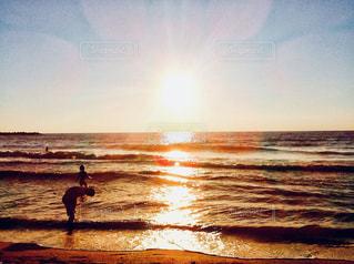 日本海 夕陽の写真・画像素材[960670]