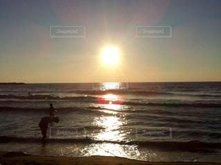 海,空,夕日,ビーチ,夕焼け,海岸,景色,新潟,サンセット,日本海,海水浴場
